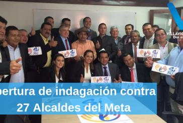 En trámite de notificación apertura de indagación preliminar contra 27 Alcaldes en el Meta y la Gobernadora por supuestas irregularidades en la elección de dos mandatarios a junta directiva de Cormacarena.